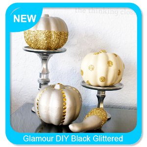Descargar app Glamour Diy Black Glittered Pumpkin