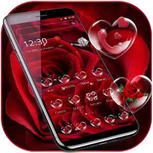 Descargar app Rosa Diamante Tema Red Rose