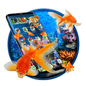 Descargar app 3d Gold Fish Aquarium Theme
